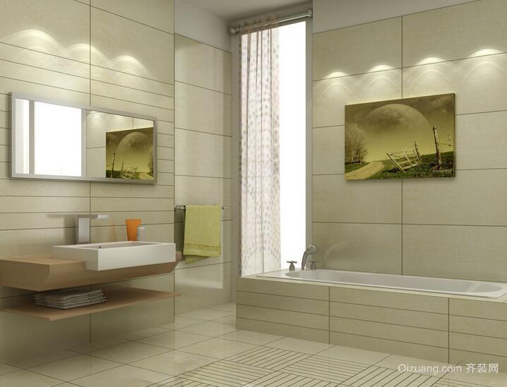 现代欧式大户型卫生间吊顶装修效果图实例