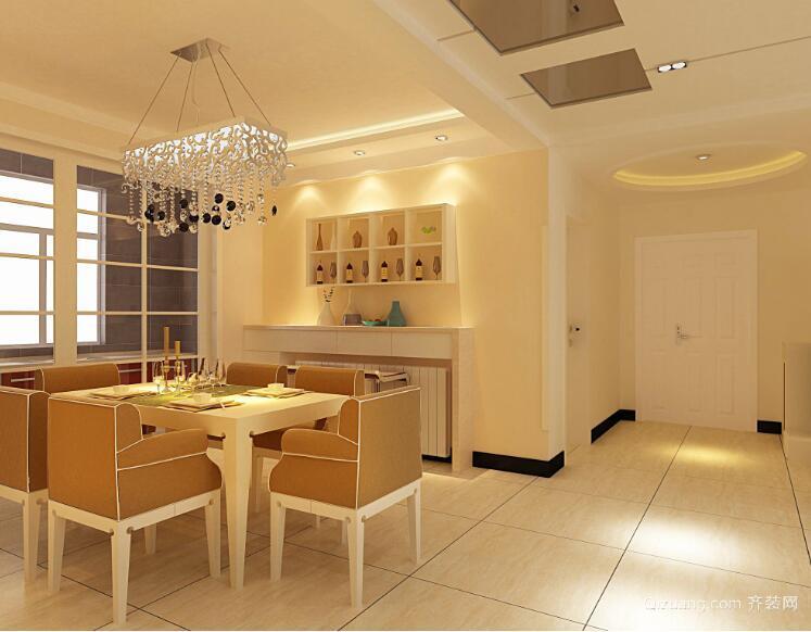 别墅型现代简约餐厅背景墙装修效果图