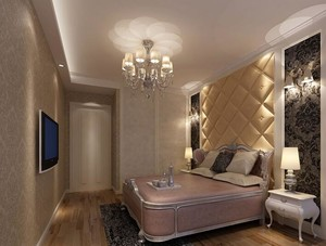 90平米大户型卧室软包背景墙装修效果图鉴赏