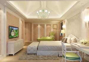 120平米大户型欧式卧室背景墙装修效果图实例