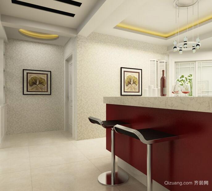 现代欧式大户型室内吧台装修效果图实例
