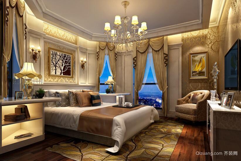 欧式风格小户型卧室背景墙装修设计效果图
