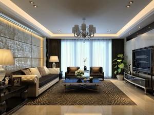 大户型后现代装修风格客厅背景墙装修效果图