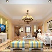 现代欧式大户型精致的客厅装修效果图