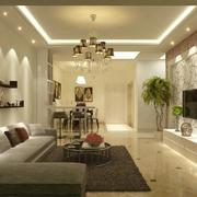 经典的欧式别墅客厅装修效果图实例