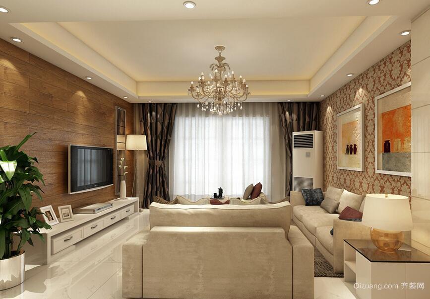 90平米欧式风格客厅室内装修效果图鉴赏