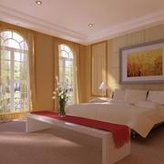 90平米大户型欧式卧室设计装修效果图
