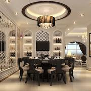 简欧风格别墅型精美的餐厅装修效果图