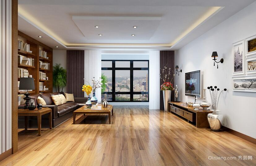 现代自建别墅欧式风格客厅吊顶装修效果图欣赏