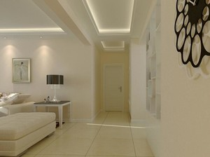 欧式风格别墅型走廊吊顶装修效果图鉴赏