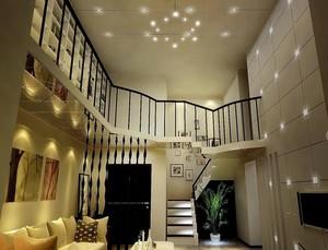 欧式风格复式楼客厅吊顶装修效果图