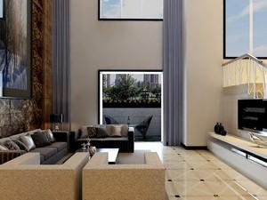 别墅后现代装修风格客厅背景墙装修效果图鉴赏