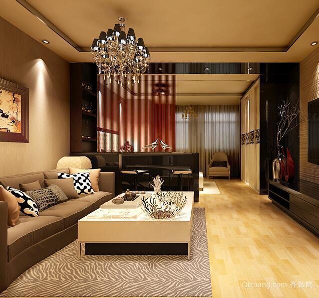 欧式风格单身公寓室内吊顶装修效果图