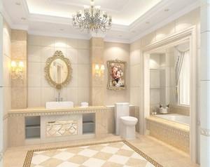 欧式风格别墅型洗手间吊顶装修效果图