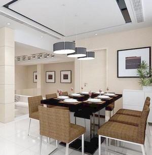 100平米房屋欧式风格餐厅吊顶装修效果图