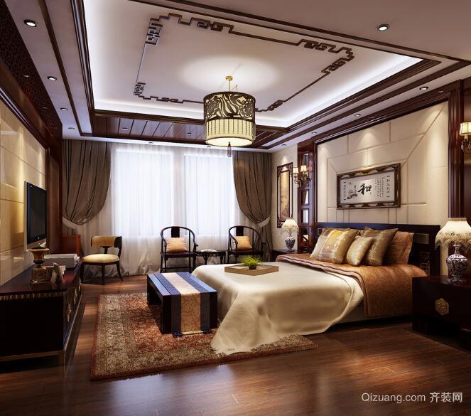 2016精美的大户型中式卧室装修效果图鉴赏