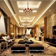 高贵典雅的别墅型欧式客厅装修效果图