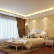 独特精美的欧式卧室背景墙装修效果图