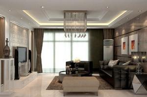 100平米房屋欧式客厅电视背景墙装修效果图