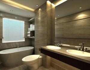 现代欧式大户型洗手间吊顶装修效果图