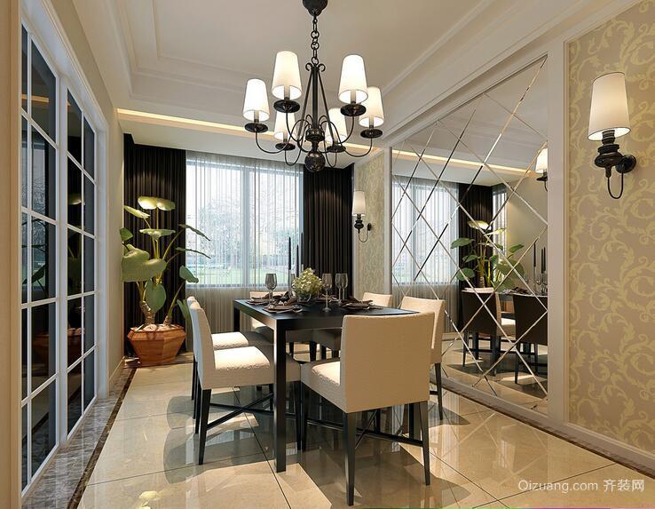 2016别墅型欧式风格餐厅吊顶装修效果图