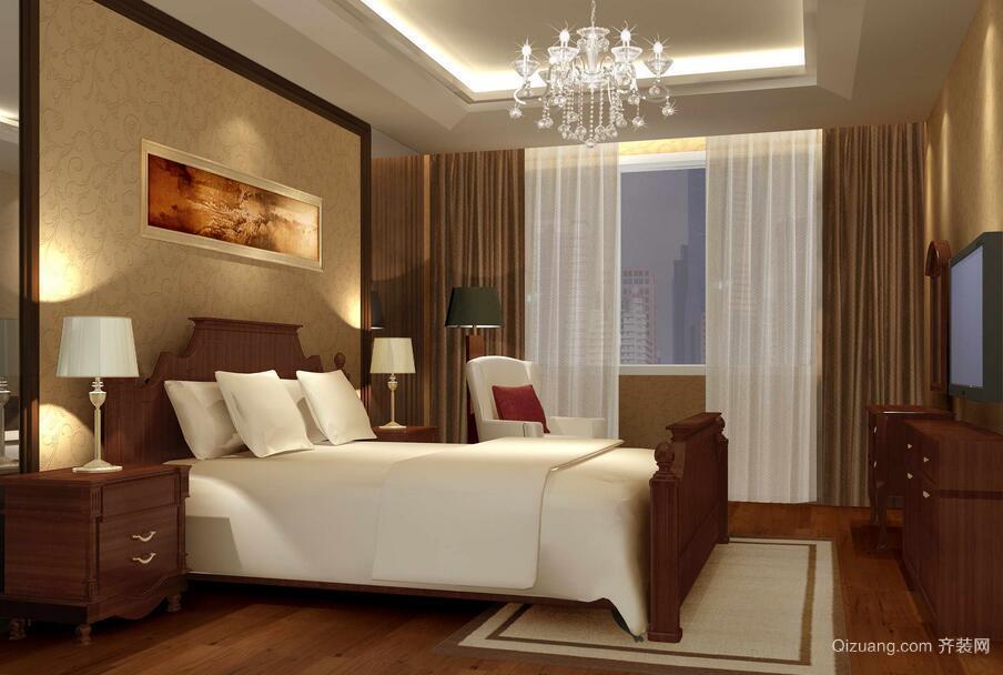 单身公寓欧式风格卧室背景墙装修效果图