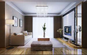 小户型简欧精致客厅电视背景墙装修效果图