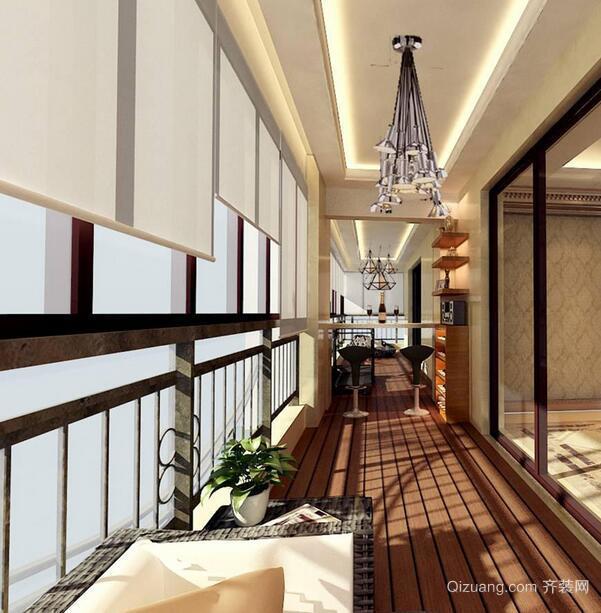 现代欧式大户型阳台吊顶装修效果图鉴赏