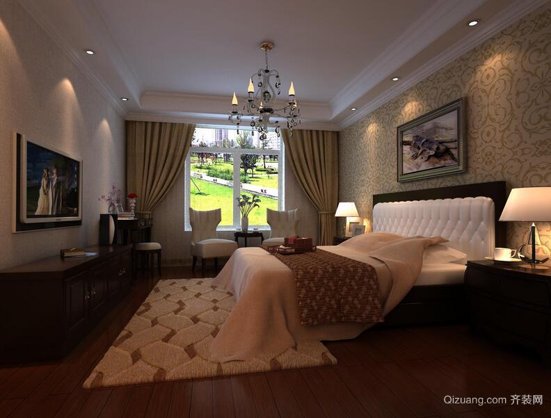70小户型欧式卧室背景墙装修效果图实例