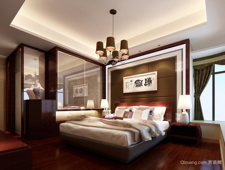 现代欧式风格小户型卧室吊顶装修效果图