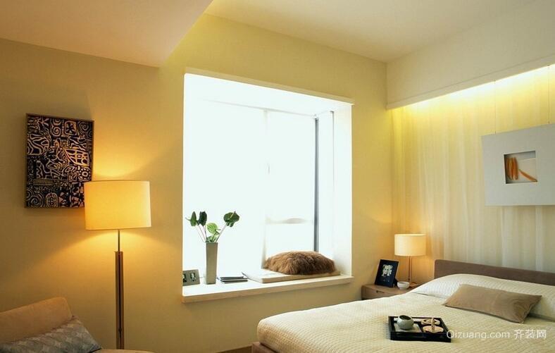 2016精致的别墅欧式风格卧室飘窗装修效果图