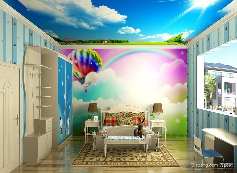 经典的别墅型欧式儿童房室内吊顶装修效果图