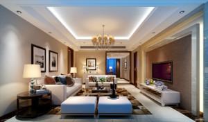 自建别墅浪漫地中海风格客厅装修效果图