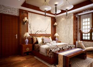 大户型复古简约卧室装修效果图