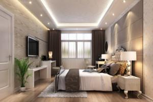 单身公寓型欧式简约卧室装修效果图