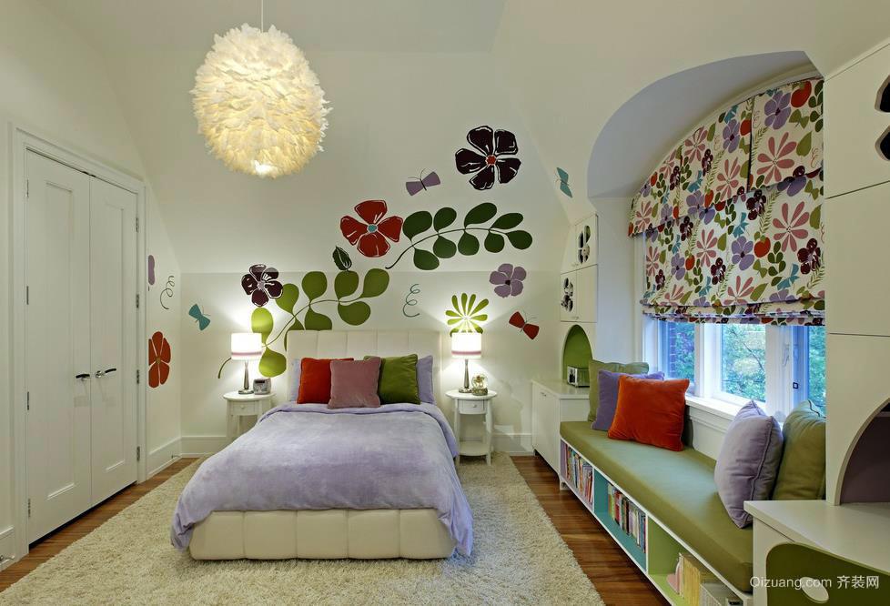 现代自然充满活力儿童卧室装修效果图