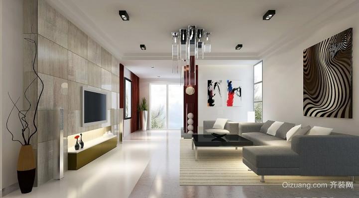 现代风格客厅吊灯装修效果图