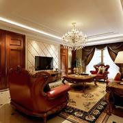 现代小户型创意美式风格客厅装修效果图