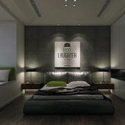 现代简约风格一居室卧室背景墙装修效果图