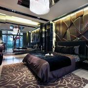 奢华别墅后现代装修风格卧室背景墙装修效果图
