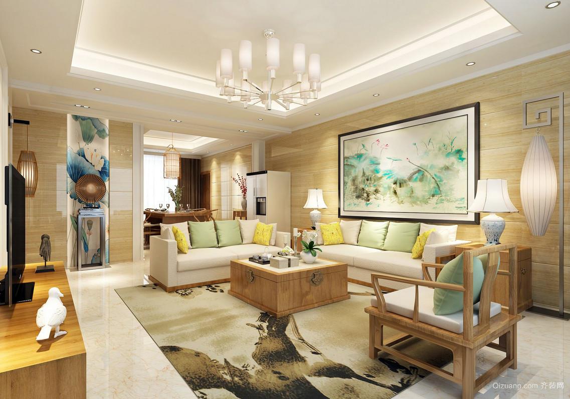 中式复古风格客厅装修效果图