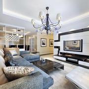 95平米大户型简欧客厅电视背景墙装修效果图