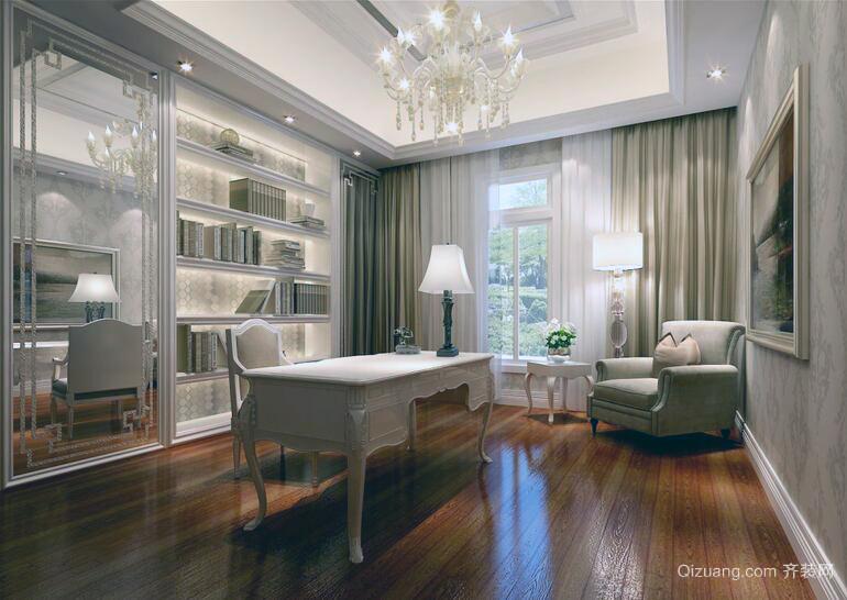 2016都市精美的大户型家庭书房装修效果图