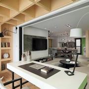 自然风格开放式书房装修效果图