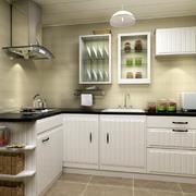 简约自然清新厨房装修效果图