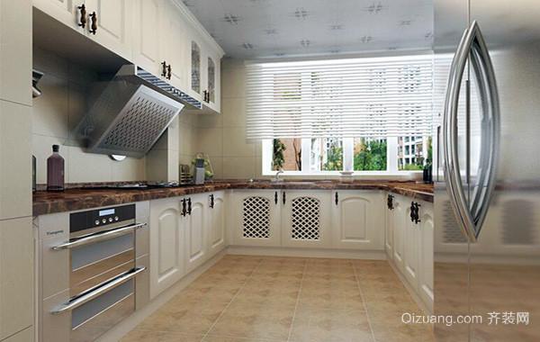 唯美的跃层欧式厨房吊顶装修设计效果图