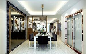 2016简欧风格小公寓餐厅吊顶装修效果图