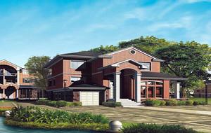 欧式风格农村小别墅设计外观效果图