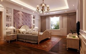 2016别墅新古典卧室背景墙装修效果图实例