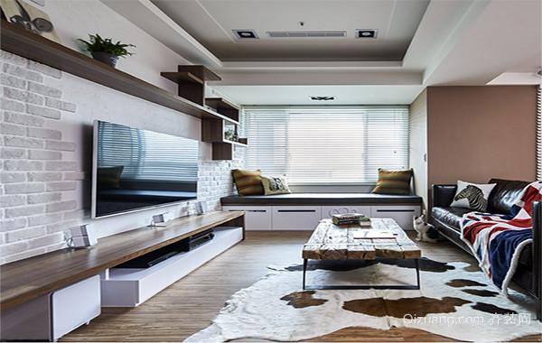 现代简约装修样板间客厅电视背景墙效果图